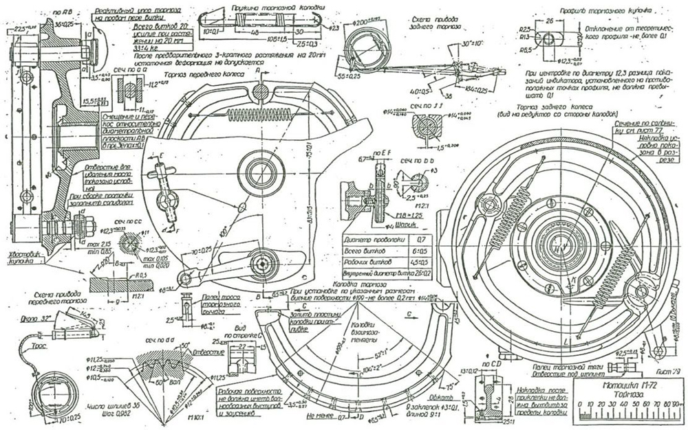 Russian M72 Motorcycle Blueprints